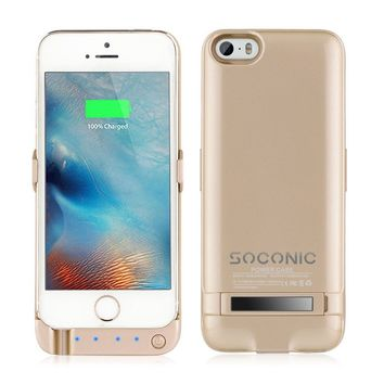 Soconic Newest Slim 4200 mah Charger Power Bank Cases for Iphone 5 5s and SE ...