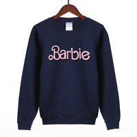 Kawaii Barbie Hoodie Women 2018 Spring Autumn Hot Women Hoodies Sweatshirts Fleece High Quality Harajuku Long Sleeve Pullovers