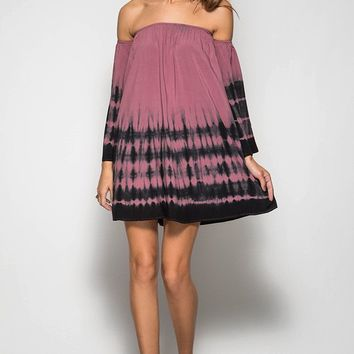 Life Is A Dream Dress- Mauve/Black