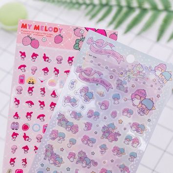 My Melody Twin Star Decorative Washi Stickers Scrapbooking Stick Label Diary Stationery Album Stickers