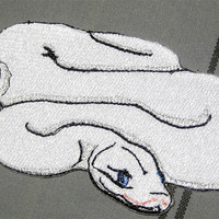 "Awesome Royal White Ball Python  Snake ""Python regius"" Serpent  Pet Steam Punk  Iron on Patch"