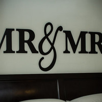 Mr & Mrs Signs for Home Decor - Mr and Mrs Signs for Over Headboard - Bedroom Artwork (Item - MMW100)