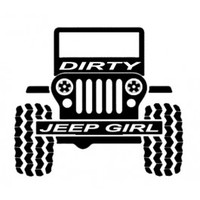Dirty Jeep Girl Decal