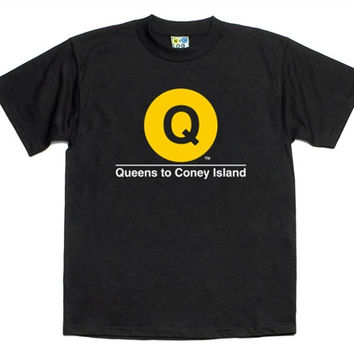 "Q Train T-shirt ""NYC SUBWAY LINE"""