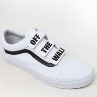 Vans Off The Wall Old Skool V White and Black Shoes at PacSun.com