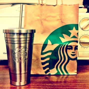 Brand New 2012 Starbucks Limited Edition Stainless Steel Tumbler16oz /473ml