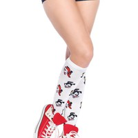 Leg Avenue Female Animaniacs Acrylic Knee Socks AN5611