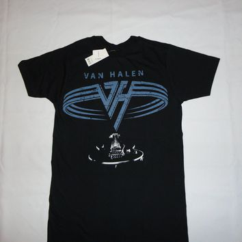 BLACK HARD ROCK VAN HALEN NWT NEW T-SHIRT S-3XL