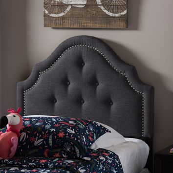Baxton Studio Cora Modern and Contemporary Dark Grey Fabric Upholstered Twin Size Headboard  Set of 1