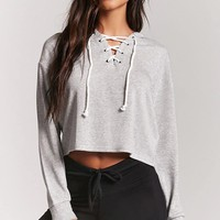 Fleece Lace-Up Pajama Top