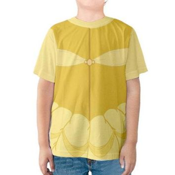 Kid's Belle Beauty and the Beast Inspired Shirt