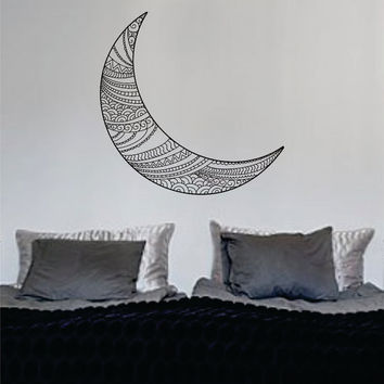Moon Version 3 Design Outer Space Decal Sticker Wall Vinyl Art Home Room Decor