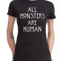 American Horror Story All Monsters Are Human Girls T-Shirt (X-Large)