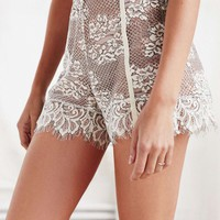 Erica Velvet Lace Shorts - Urban Outfitters
