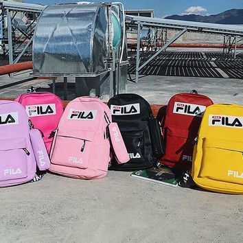 Fila new street fashion men and women casual wild travel backpack