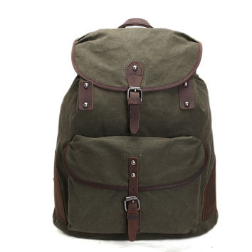 Elbrus – Leather & Waxed Canvas Backpack