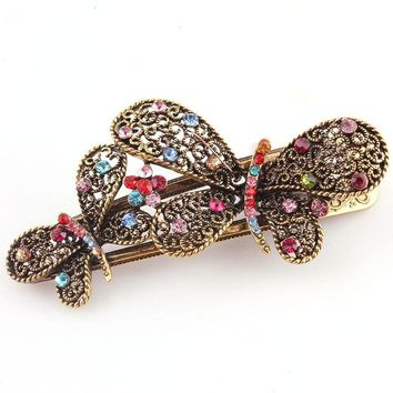 Lovely Vintage Double Butterfly Hair Clips Hairpins Hair Clip Jewelry