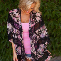 Flowers and Lace Kimono