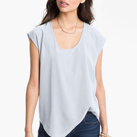 Frenchi® Oversize Woven Tee (Juniors) | Nordstrom