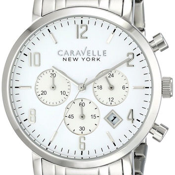 Caravelle New York by Bulova Men's 43B138 Analog Display Japanese Quartz Whit...