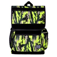 Unisex Neon Green Camouflage Multicolored Bohemian Casual Canvas Backpack Day Pack Laptop Bag (Neon green)