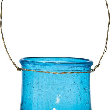 Hanging Recycled Glass Vase and Candle Holder