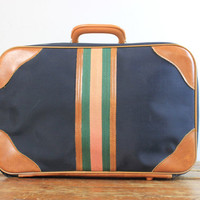 1970's Overnight Suitcase in Navy