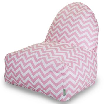 Baby Pink Chevron Kick-It Chair