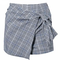 Plaid Knot Mini Skort