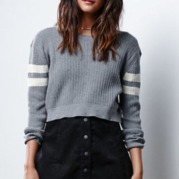 Glamorous Stripe Cropped Pullover Sweater at PacSun.com