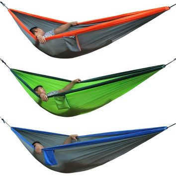 Portable Hammock Double Person Camping Survival Garden Hunting Leisure Travel Furniture Parachute Parachute Hammock 300 X 200cm