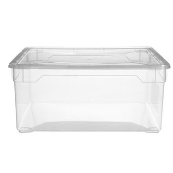 Clearview Stackable Shoe Storage Box & Lid 18L