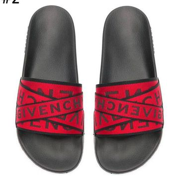 Givenchy Tide brand men and women letter straps beach sandals #2