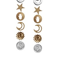 New Look Moon & Stars Multipack Earring