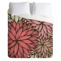 Gabi Orange Dahlia Duvet Cover