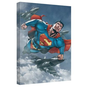 Superman - In Formation Canvas Wall Art With Back Board