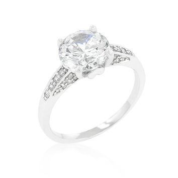 Contemporary Engagement Ring with Large Center Stone