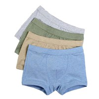 Encounter Boys Comfort Cotton Boxer Brief Assorted Colors (Pack of 4),L