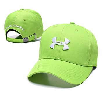 Under Armour Fashion Women Men Embroidery Summer Sports Sun Hat Baseball Cap Green