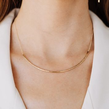 Contour Collar Necklace - ( As Seen On Arrow )