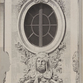 Style of Louis XIV Antique Architectural Etching