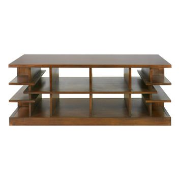 Simeto Multi-level Rectangular Walnut Coffee Table by Uttermost