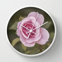 Rose Wall Clock by Maureen Bates Photography