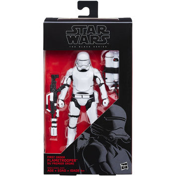 "Star Wars The Black Series 6"" First Order Flametrooper - Walmart.com"