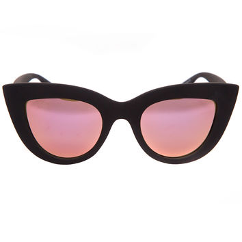 Quay Kitti Black and Pink Mirrored Shades