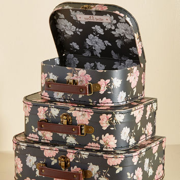 Sweetly Stowed Mini Suitcase Set | Mod Retro Vintage Keychains | ModCloth.com