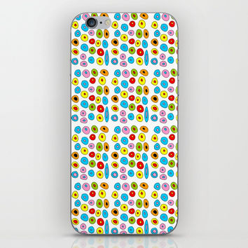 multicolor 3 polka dot-polka dot,pattern,dot,polka,circle,disc,point,abstract,kitsch iPhone Skin by oldking