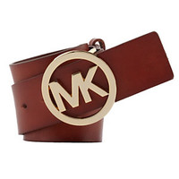 Michael Kors Logo Plaque Belt | Dillard's Mobile