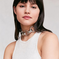 Tri-Circle Statement Choker Necklace | Urban Outfitters