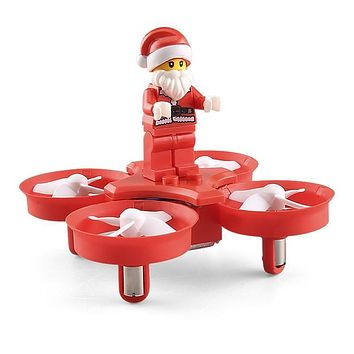 Santa Claus Mini Drone 4ch Rc Drones 6 Axis Drons Toys For Children Shatter Resistant Copter Rc Helicopter Christmas Gift Xmas